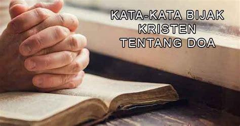 kata bijak rohani kristen tentang doa kristen yukristen