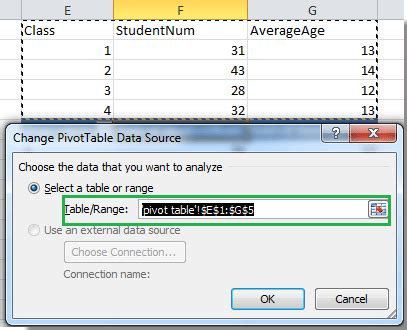 Change Pivot Table Data Range How To Update Pivot Table Range In Excel