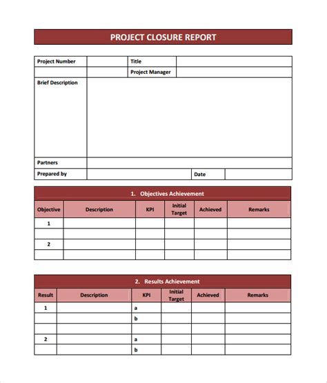 project completion template project closure report template 10 documents in pdf word