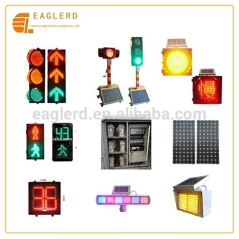 countdown timer with flashing light solar traffic signal lights system with controller