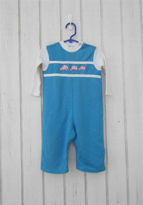 vintage baby clothes baby boy onesie cars toddler romper baby
