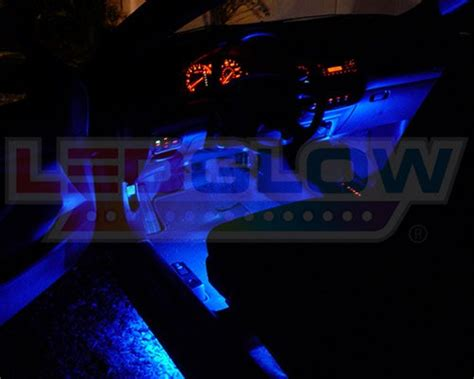 Ledglow Interior Lights by Ledglow 4pc Blue Led Car Interior Underdash Lighting Kit Universal Fitment Mode Auto