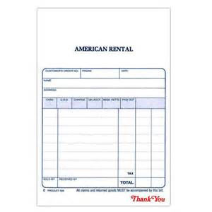 hand receipt form pack of 50 american rental employee store