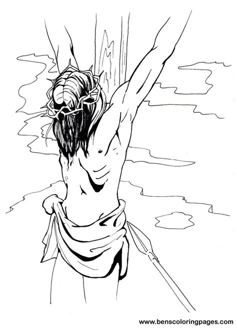 Coloring Pages Jesus On The Cross by Jesus On The Cross Picture
