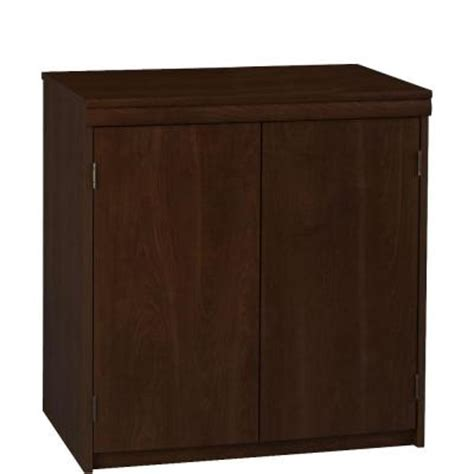 Ameriwood 2 Door Office Storage Cabinet In Resort Cherry Home Depot Storage Cabinets With Doors