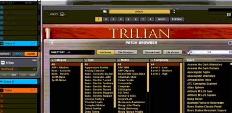 Trilian Spectrasonic Bass Instrument Vsti Vst Plugin Update spectrasonics trilian 1 4 update overview 50 new synth