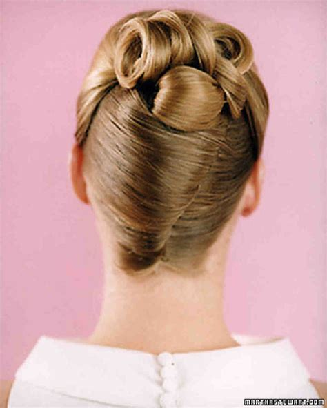 rolling hair styles wedding hairstyles martha stewart weddings