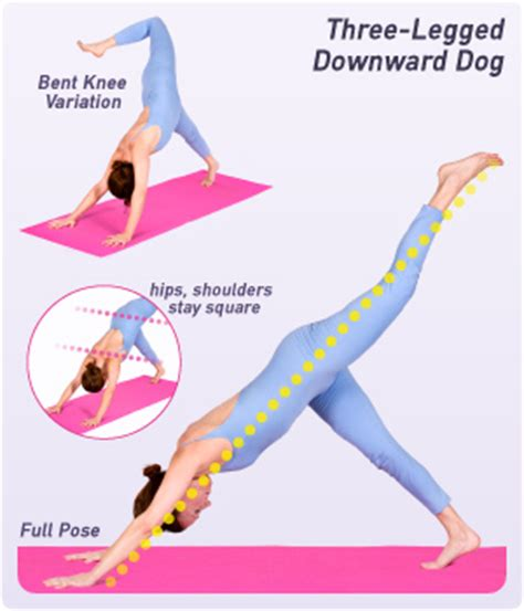 how to do downward how to do three legged downward in