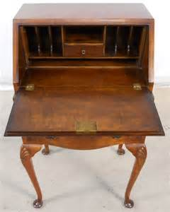 Small Bureau Desk Uk Writing Bureau Furniture Walnut Wooden Workstation For Home Use