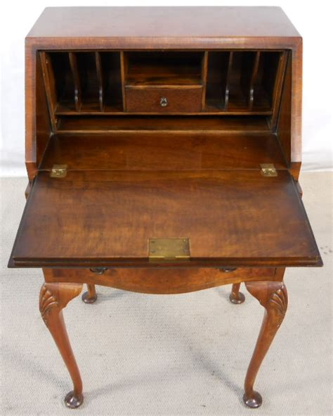 Small Antique Writing Desk Writing Bureau Furniture Walnut Wooden Workstation For Home Use
