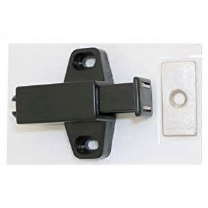Kitchen Cabinet Magnetic Latches Ultra 13615 Magnetic Push Latch Black Cabinet And Furniture Latches