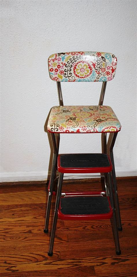 Cosco Kitchen Stool Vintage by Vintage Restored Cosco Kitchen Step Stool Retro Cool
