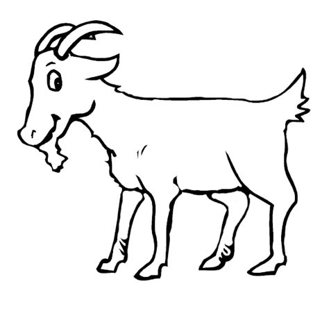 coloring pages of goat goat printable coloring pages