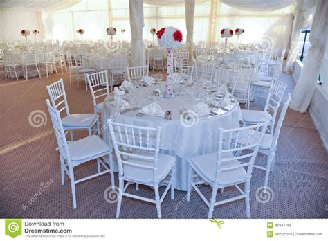 Wedding Reception Animation by Tables Set For An Event Or Wedding Reception Stock