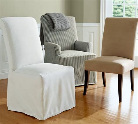 pottery barn dining room chair slipcovers pb comfort roll chair slipcovers pottery barn