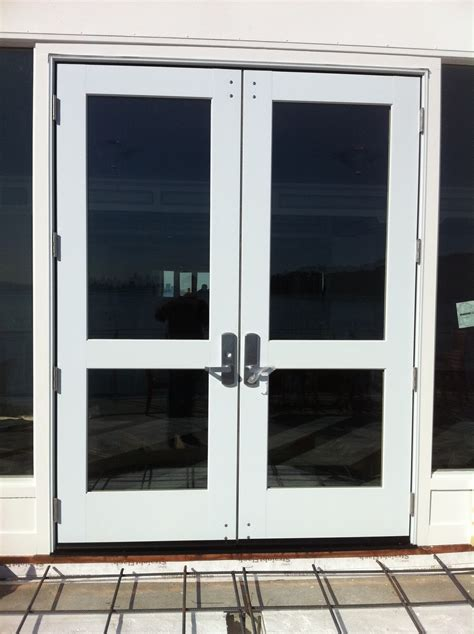 Comercial Glass Doors Marvin Commercial Door Installation With Duprin Hardware