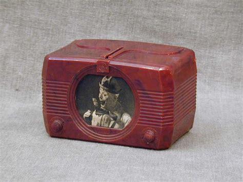 tv bank vintage 1940s bakelite emerson 648 tv promo moneybox piggy bank ebay