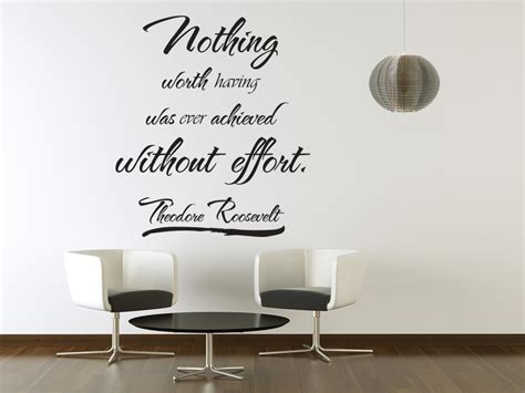 Inspirational Quotes Wall Stickers vinyl wall art theodore roosevelt quote sticker decal
