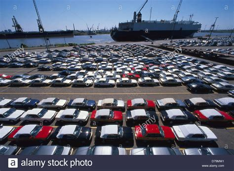 Port Car by Germany Bremerhaven Import Export Cars In Port Bremerhaven Stock Photo Royalty Free Image