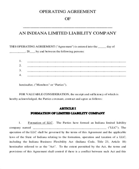 partnership operating agreement template sle business operating agreement anuvrat info