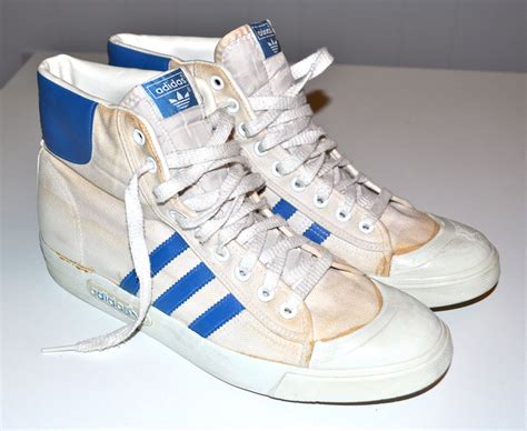 1980s basketball shoes adidas 1980s vintage high top sneakers basketball shoes canvas