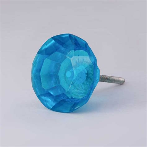 Blue Knobs by Faceted Glass Door Knobs Blue