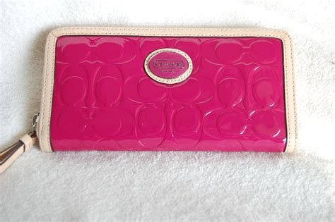 Coach Embossed Wallet Limited coach peyton embossed large zip around patent leather