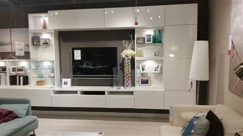 Besta Tv Wall Unit Ikea Besta Tv Wall Unit Gloss White Home