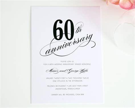 60th Wedding Anniversary Invitations Ideas   60th