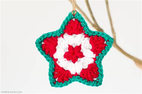 star christmas ornament interweave