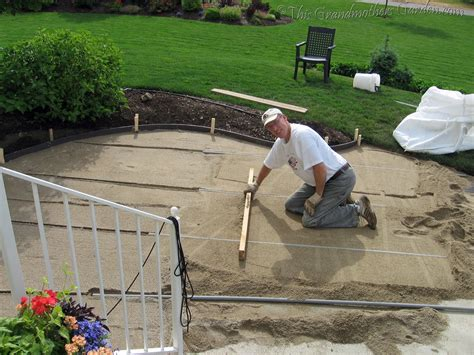 this grandmother s garden diy flagstone patio