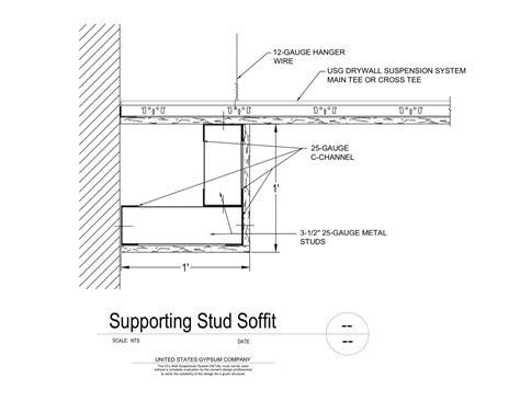 gypsum ceiling section detail usg design studio drywall suspension system ceiling
