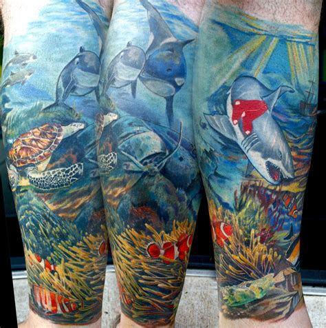 underwater sleeve tattoo underwater 2 by todo abt images frompo