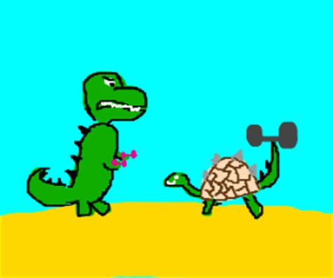 t rex can't do pull ups or push ups