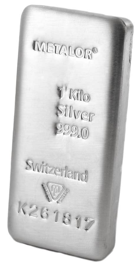 1 Kilo Silver Bar Dimensions by 1 Kilo Swiss Silver Bullion Bar By Metalor Bullionbypost