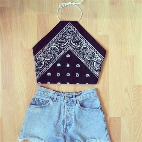 diy bandana bandana diy crop top diy bits and bobs diy crop top bandanas and crop