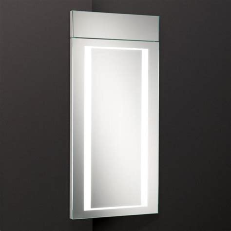 hib corner white backlit minnesota bathroom mirror cabinet