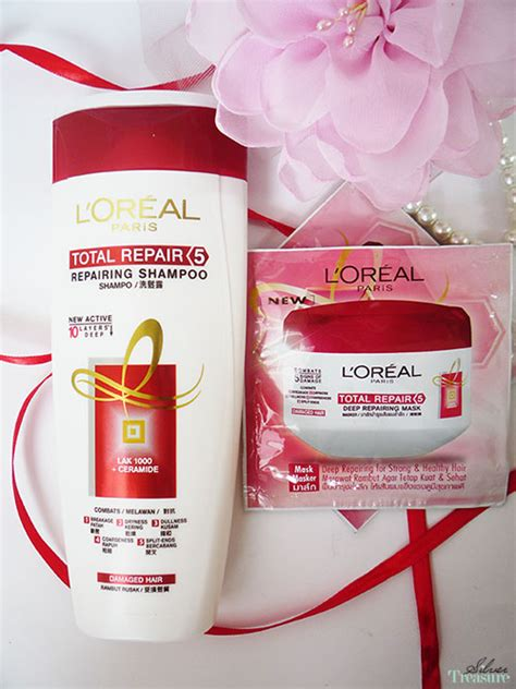 Shoo Loreal Total Repair hair mask loreal total repair 5 hair masque review l