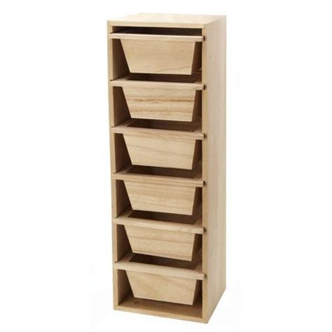 Wooden Storage Tower With Drawers by Consumercrafts Product Unfinished Wood Storage Box Desk
