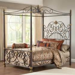 Metal Canopy Bedroom Set King Size Metal Canopy Bed With Posts And Intricate