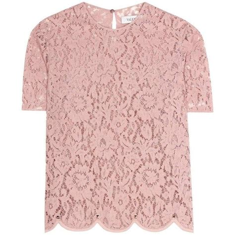 Blouse Top Pink valentino lace top found on polyvore featuring tops