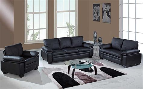 cheap black living room furniture sets with glass table home interior exterior