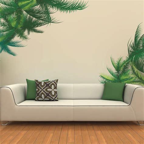 3d butterflies wall sticker living room bedroom background green palm tree wall sticker living room bedroom tv