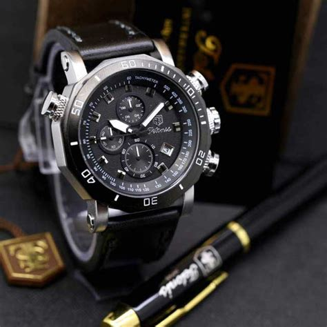 Jam Swiss Navy 1133 Hitam Kulit Coklat Original Garansi Resmi 1 Tahun jam tangan tetonis t759ss bonus bolpoin eklusif