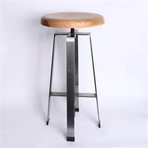 Wooden Adjustable Bar Stool Steel Adjustable Bar Stool Wood Seat Furniture Finds