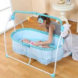 Electric Swing Baby Crib 2016 Fashion Big Space Electric Baby Crib Infant Rocker 100 55 Cm 6 Kg Plus Mosquito Net