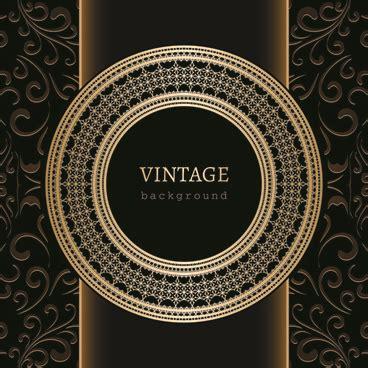 V51 Wallpaper Sticker Motif Vintage Brown free golden background vector free vector