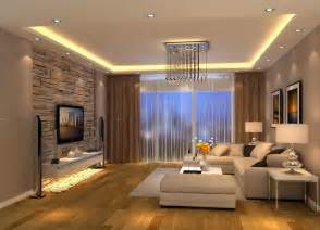 Room Interior modern living room brown design