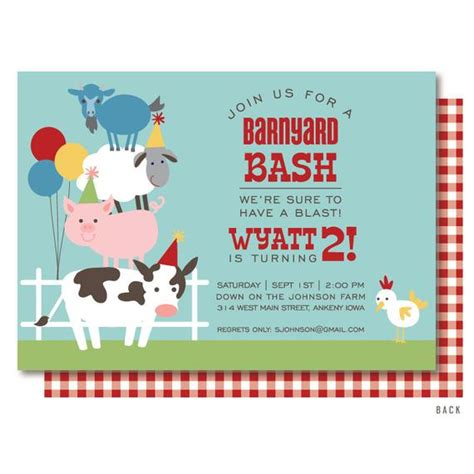 Farm Birthday Invitation Barnyard Birthday Invitation Farm Farm Invitation Template