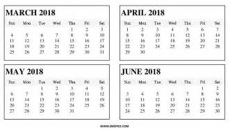 calendar march april may 2018 mathmarkstrainones